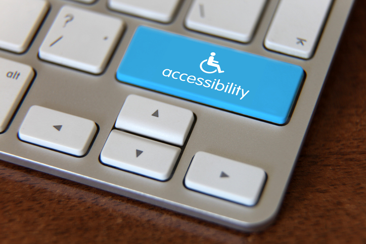 Accessibility icon on a keyboard